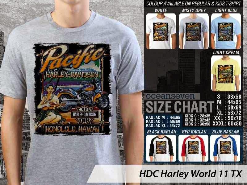 Kaos Motor Harley Davidson World 11 distro ocean seven