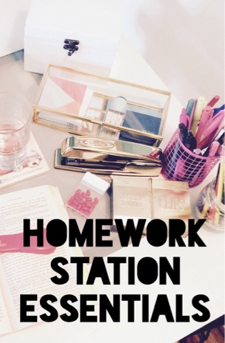 Homework Station Essentials