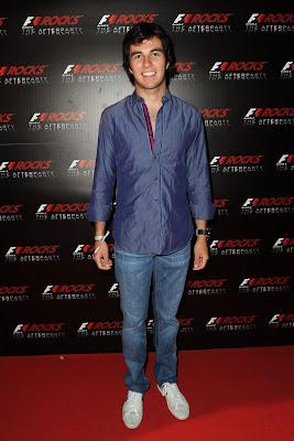 Серхио Перес на F1 Rocks в Милане после Гран-при Италии 2011