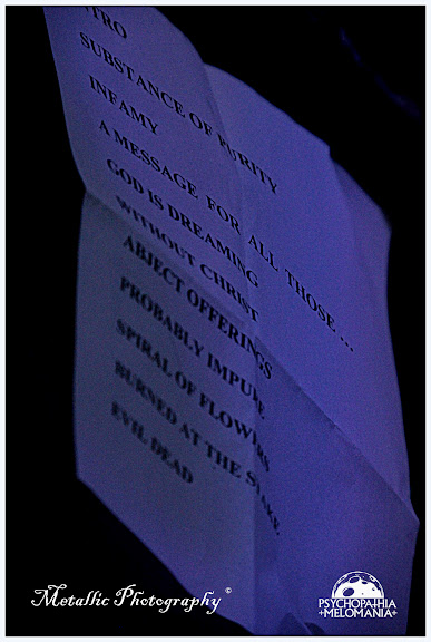 Set-list Mercyless, PMFF V, Divan du Monde, Paris 11/01/2013