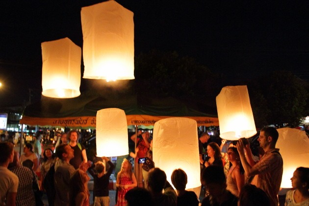 Celebrating the festival of lights in Thailand
