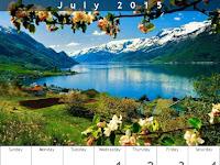 Fondo de Pantalla Calendario Julio 2015