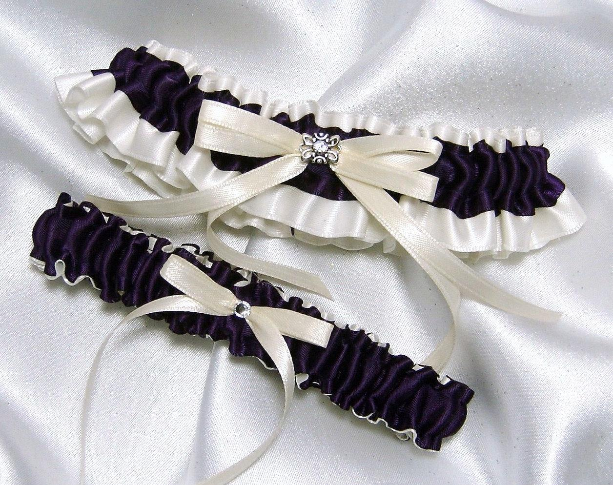 True Eggplant and Ivory Satin