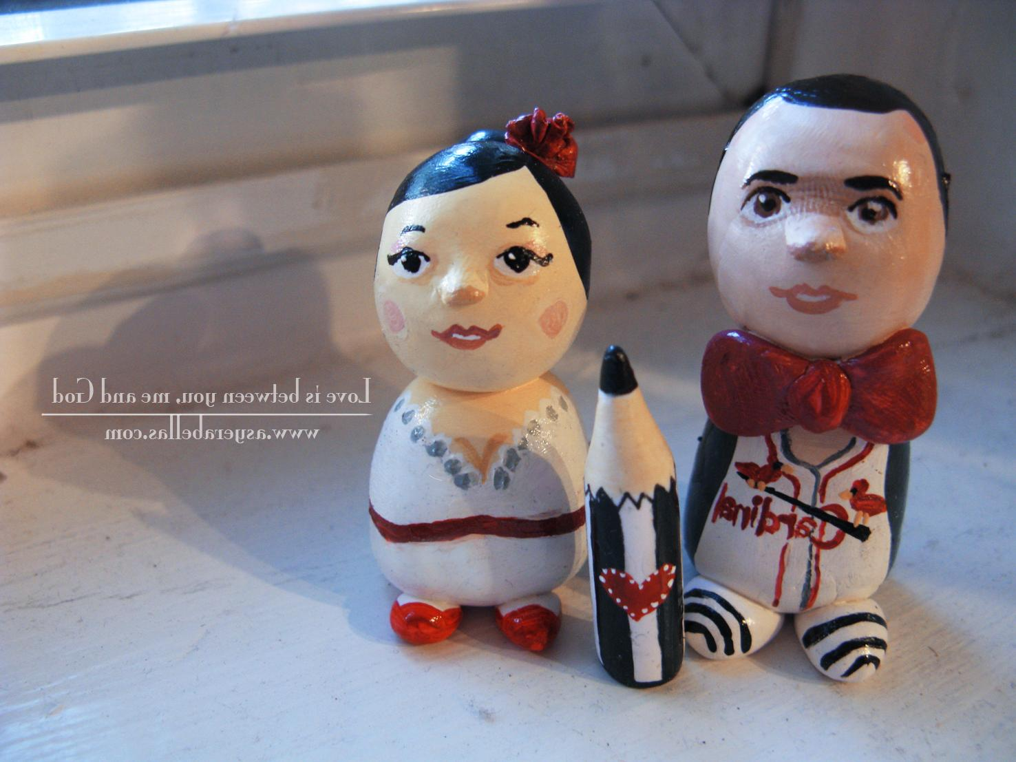 DIY wedding toppers