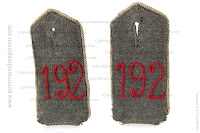 Shoulder straps of Kgl. Sächsisches Infanterie-Regiment Nr.192