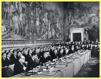 Firma del Tratado de Roma en 1957