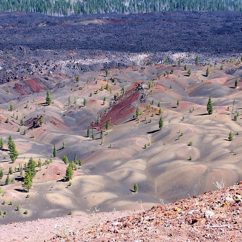 The Painted Dunes of Lassen Volcanic National Park