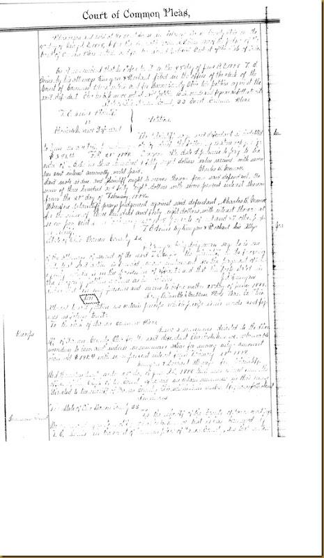 T.E. Irvins filed petition Charles B. Monroe 1885 1