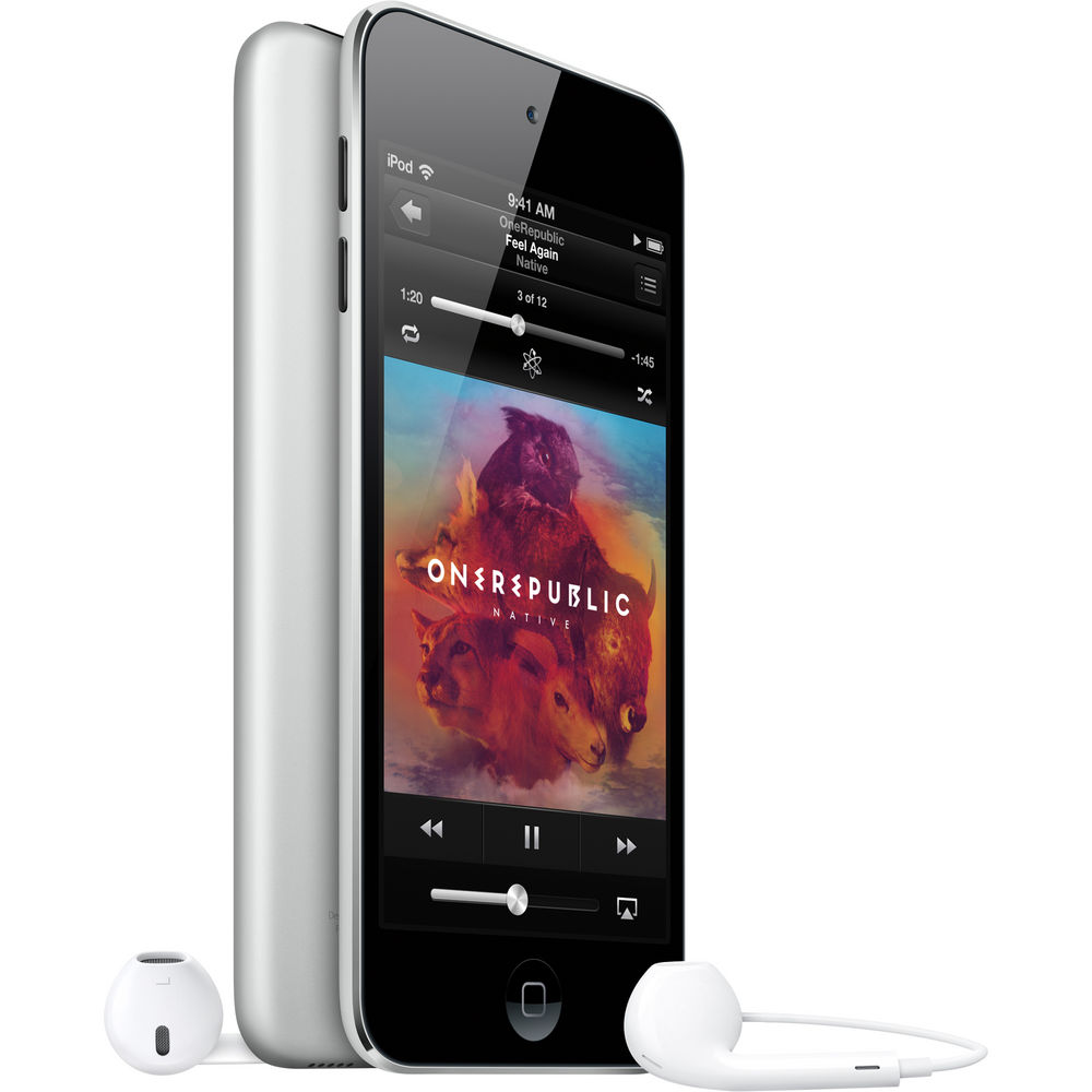 apple ipod touch 16gb 5th generation black silver w facetime camera me643ll a ebay. Black Bedroom Furniture Sets. Home Design Ideas