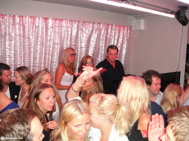lots of blonde girls at a nightclub in stockholm in Stockholm, Södermanland, Sweden