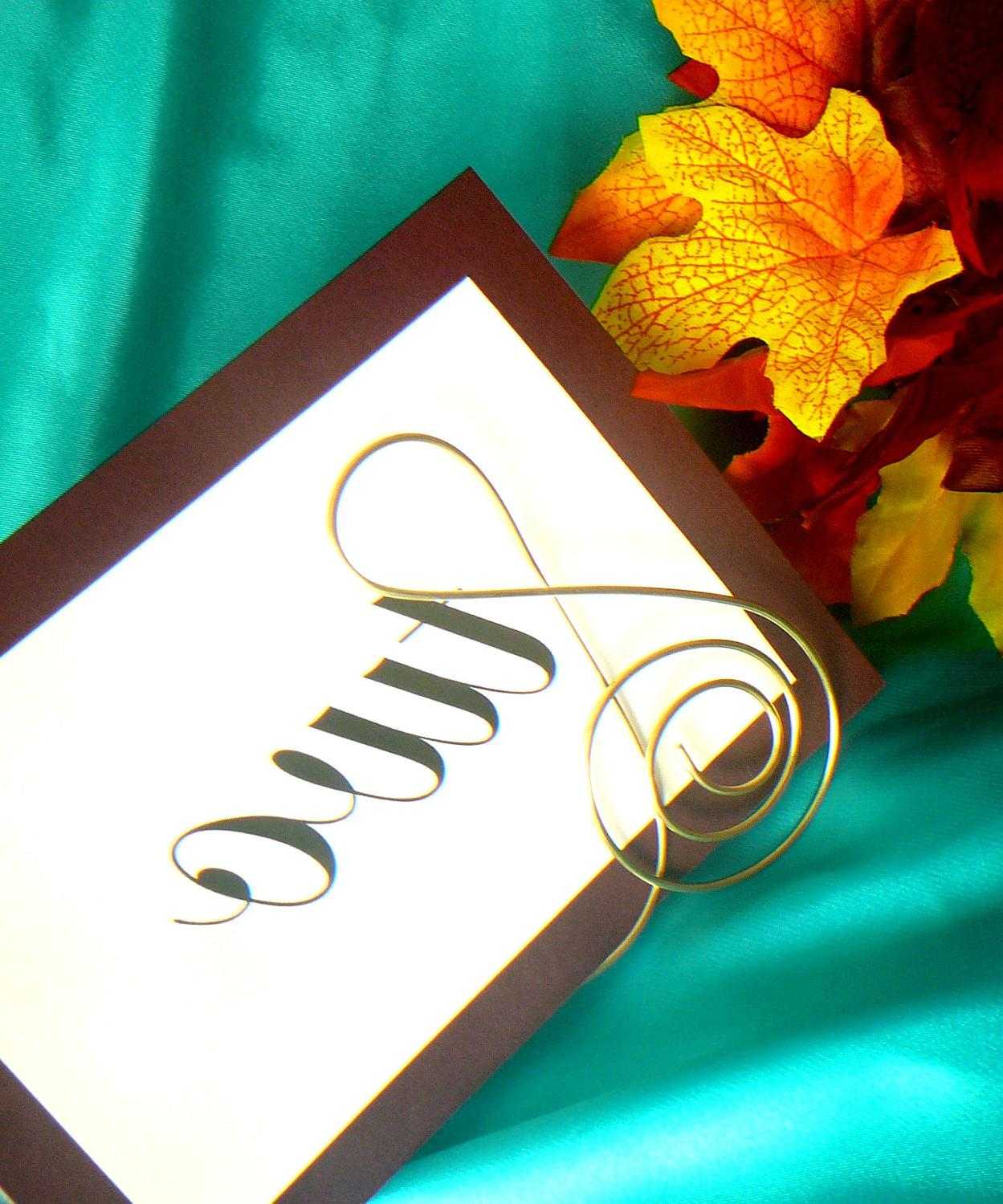 Brass Treble Clef Table Number