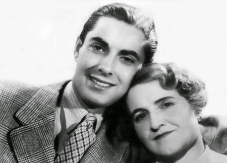 Tyrone Power and mother