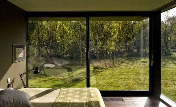 Schlafzimmer mit Ausblick – Wände gestalten mit Natur ...