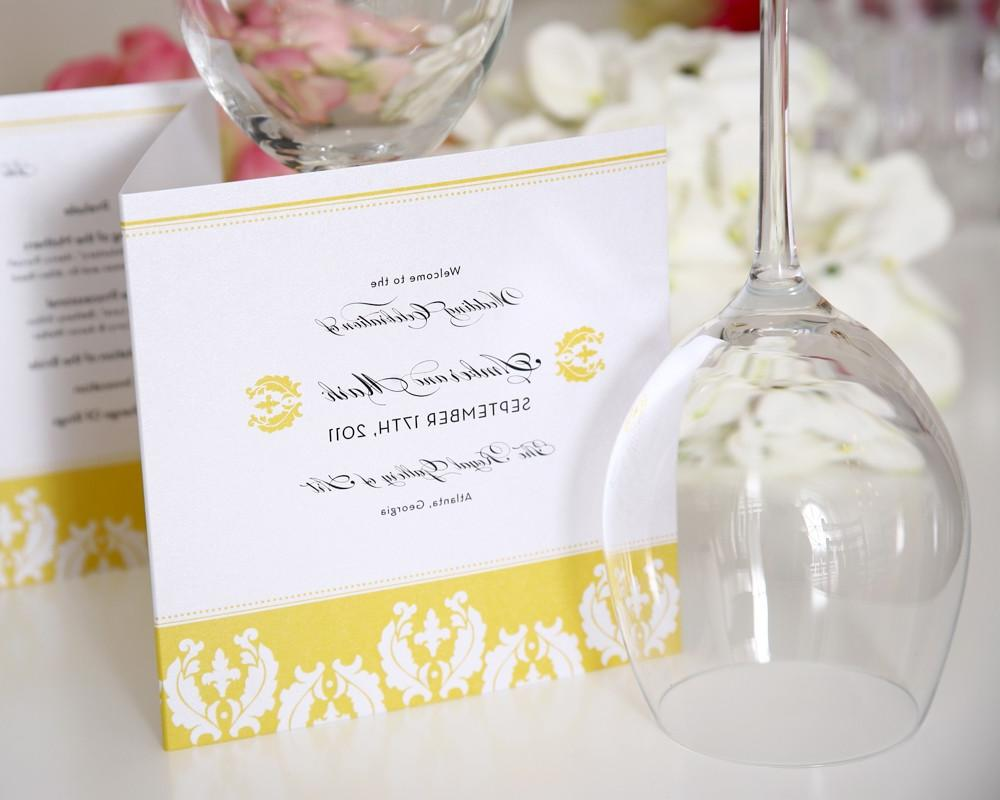 Damask Wedding Programs,