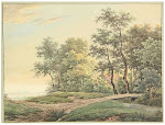 "Description: Serne, A. (1773-1853). (Landscape with country road and a bridge, a house hidden behind the trees). Drawing, pen and ink and watercolour, 20,2x15 cm., black framing line, signed ""A. Serne"" in lower margin, laid down on mount along upper margin. - Browned; sm. dam. spot in upper left corner and right margin.Lot 4985: Serné, A. (1773-1853). (Landscape with country road and a bridge, a house hDrawings, Old master prints, Maps and plansPlatinum Houseby Bubb Kuyper: Auctioneers of Books, Graphic Art & ManuscriptsMay 22, 2015 Haarlem, Netherland"