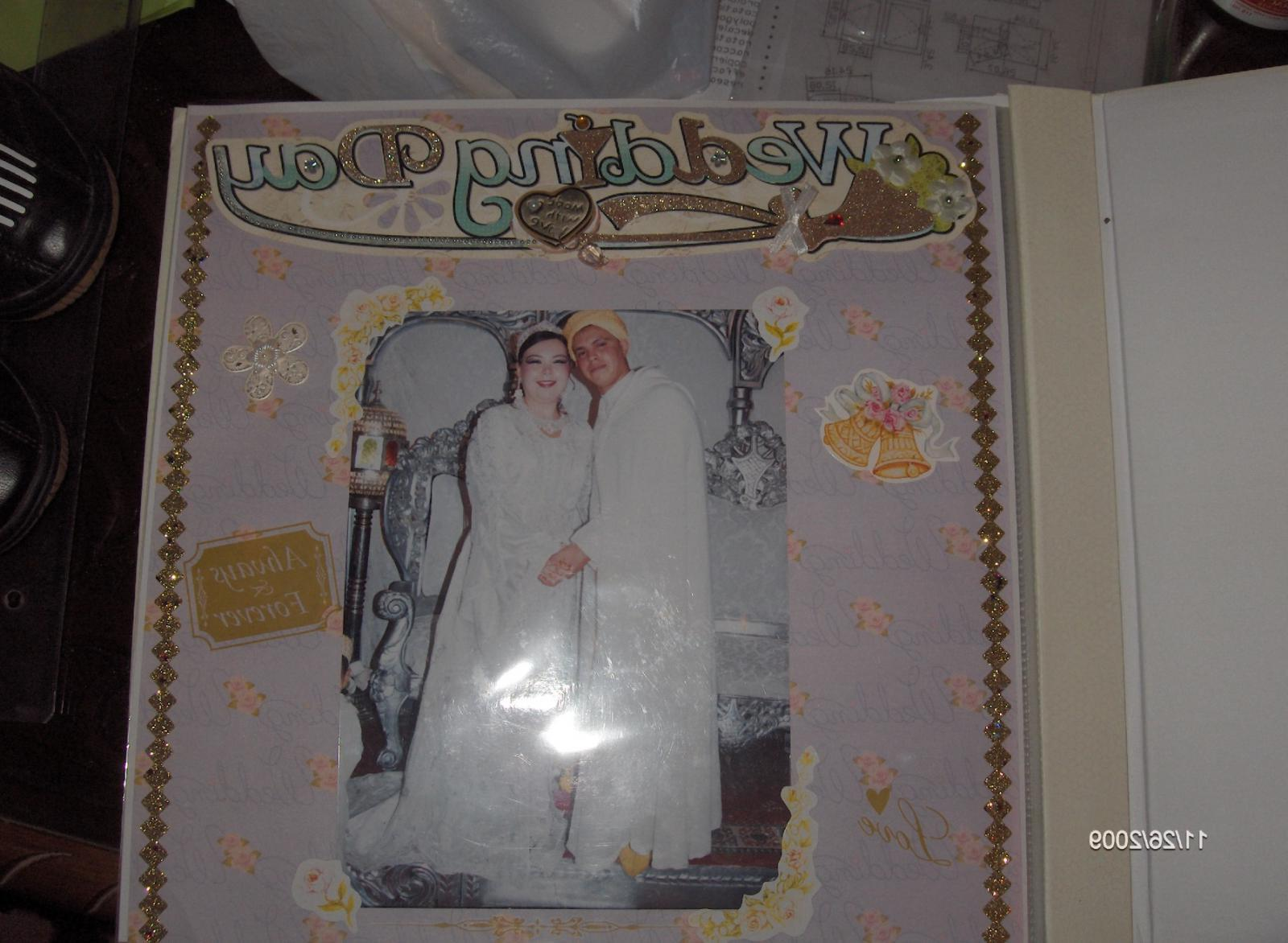 This is a pic of my wedding scrapbook, our wedding took place in 2008 in