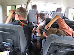 What birding from the van was like. The windows were too small! :(