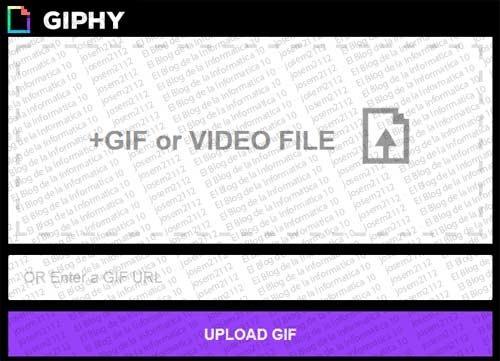 GIF animado en Facebook con Giphy - seleccionar gif animado
