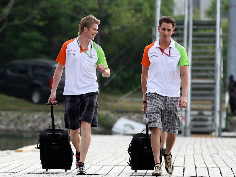 Нико Хюлькенберг и Адриан Сутиль на Гран-при Канады 2011