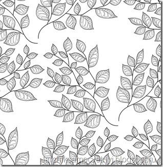 Паттерн веточки с листьями
