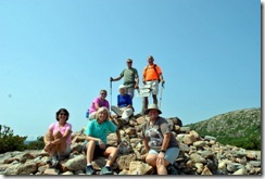 Tricia, Peg, Michelle, Syl, Nancy, Dan and Bill on Door Mountain