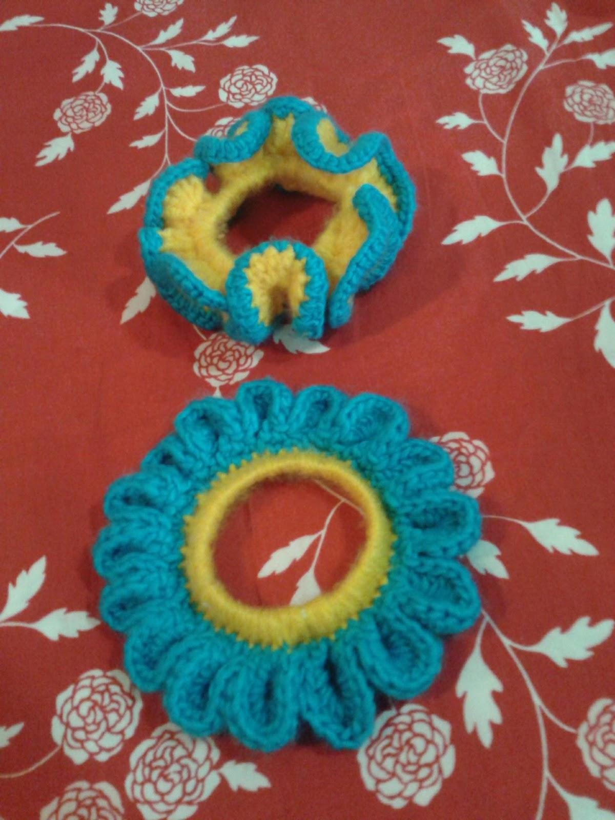 Untuk Sahabat Muei: Ikat Rambut Rajut