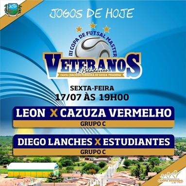 III COPA DE PELADEIROS  - TABELA - 24.07 - CAMPO REDONDO