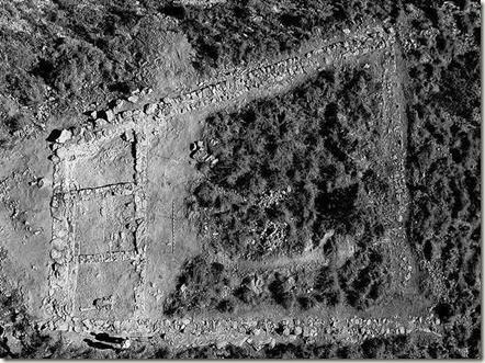 Vista aerea del fuerte ibérico de Aigues Baixes - El Campello