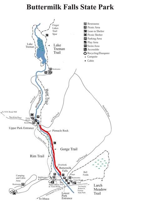 Buttermilk Falls State Park Map