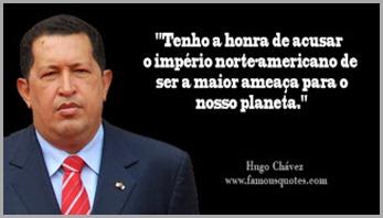 Hugo Chavez, um lider socialista em guerra aos illuminatis