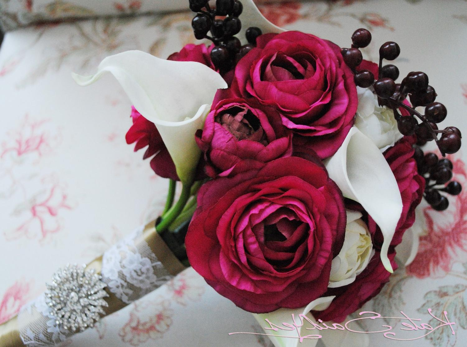 Silk Wedding Bouquet - Fuchsia