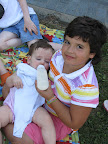 Kayla holding Leah Bancroft 7/10/10