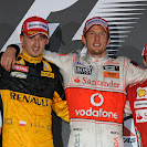 2010 Australian F1 GP podium: Kubica, Button, Massa