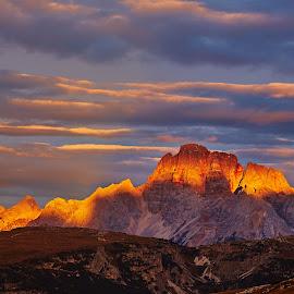 Burning Mountain by Michael Fuchs - Uncategorized All Uncategorized ( lightning sunset, sunrise, dolomites, burning )