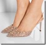 Rene Caovilla embellished sling back shoes