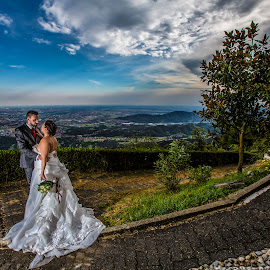 Genny e Simone by Mauro Locatelli - Wedding Bride & Groom ( lanscape, romantic, bride and groom )