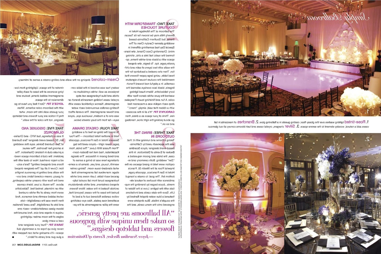 BRIDAL GUIDE MAGAZINE Feature: