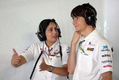 Мониша Кальтенборн и Эстебан Гутьеррес на Гран-при Японии 2011