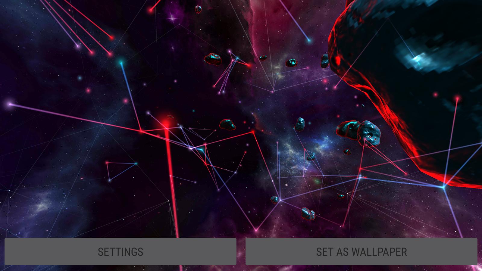 Particle Plexus Sci Fi 3D Live Wallpaper Screenshot 19