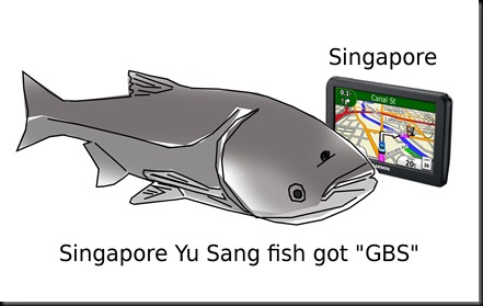 Singapore Yu Sang Fish got 'GBS'
