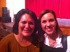 con Sofía Carlon de López Valdés, primera dama de Sinaloa