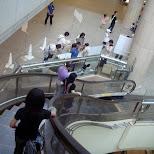 cool curving escalators in Yokohama, Tokyo, Japan