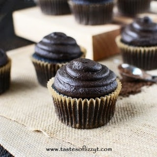 Whole Grain Chocolate Cupcakes with Dark Chocolate Peanut Butter Frosting