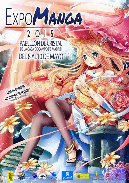 Expomanga 2015, del 8 al 10 de mayo en el Pabellón de Cristal de la Casa de Campo