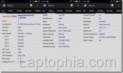 CPU Z Meizu M2