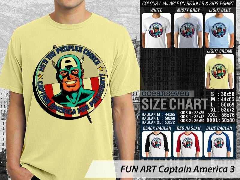 KAOS Captain America 3 Kartun Lucu distro ocean seven