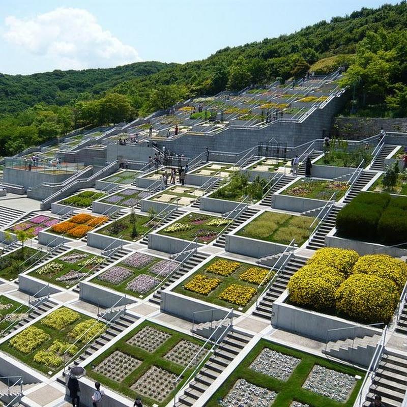 The 100 Stepped Garden of Awaji Yumebutai