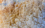 Salt formation on the rocks in Karaburun