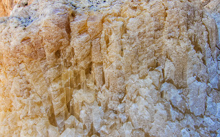 Salt formation on the rocks in Karaburun