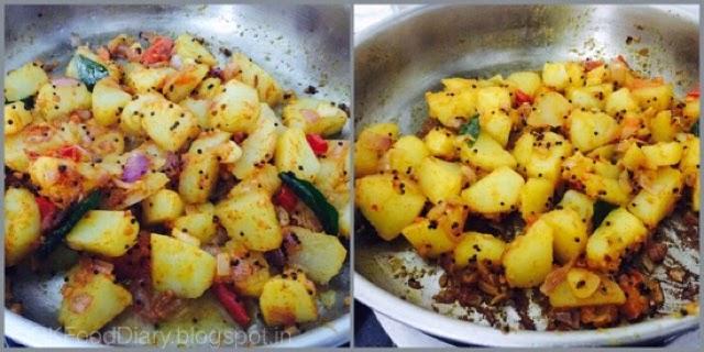 Potato Curry in South Indian Style (Urulaikilangu Kara Kari ) 5